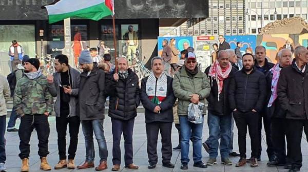 الجالية الفلسطينية تنظم مظاهرة جماهيرية ضد صفقة القرن والتطبيع في ألمانيا