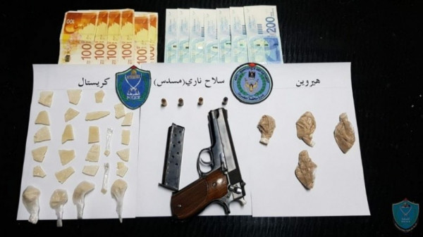 ضبط مواد مخدرة وسلاح ناري بحوزة مشتبه به في رام الله
