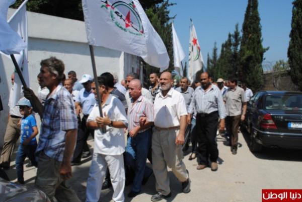 جبهة النضال الشعبي في طولكرم تشارك بفعاليات مواجهة التطبيع