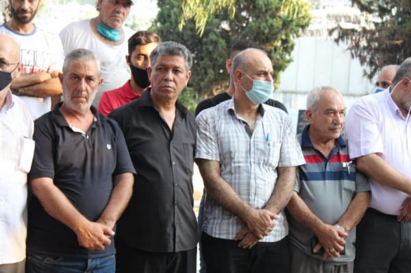 """هيئة العمل الفلسطيني المشترك بصيدا تُحيي ذكرى مجزرة """"صبرا وشاتيلا"""" بمثوى شهداء عين الحلوة"""