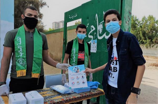 الكتلة الإسلامية تستقبل طلاب الثانوية في قطاع غزة
