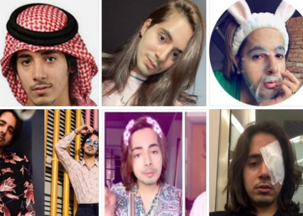 صور.. بدر خلف يثير الجدل مجددا بارتداء الحجاب وعباءة نسائية: تربينا على الحشمة