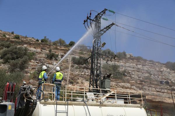 كهرباء القدس: نسعى لانهاء أعمال غسيل الشبكات وعدم تضرر مصالح مشتركينا طويلاً