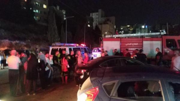 ست إصابات في انفجار بإحدى الشقق السكنية برام الله