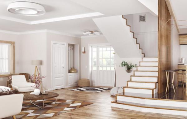 ديكورات السلالم الداخلية في المساحات الضيقة