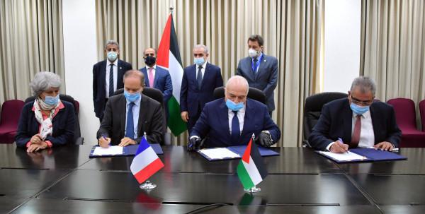 الحكومة والوكالة الفرنسية للتنمية توقعان اتفاقية مشروع للمياه والزراعة في قطاع غزة