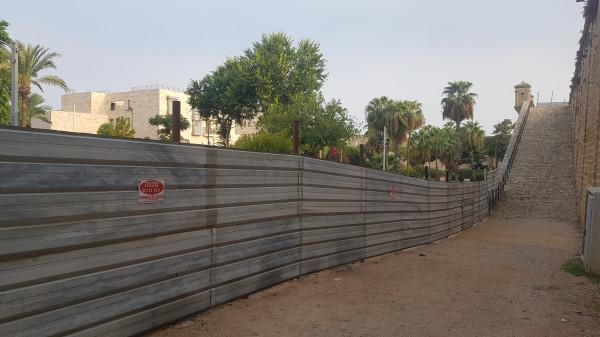 الشروع في تطوير متنزه السور الشرقي في عكا القديمة