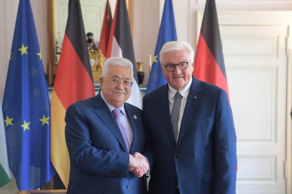 الرئيس عباس يبحث مع نظيره الألماني الأوضاع الداخلية الفلسطينية والعلاقات الثنائية