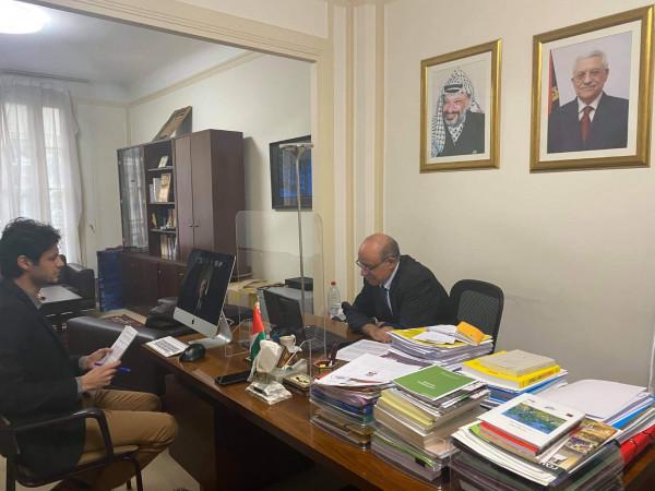 السفير الهرفي يلتقي لجنة الصداقة البرلمانية مع فلسطين