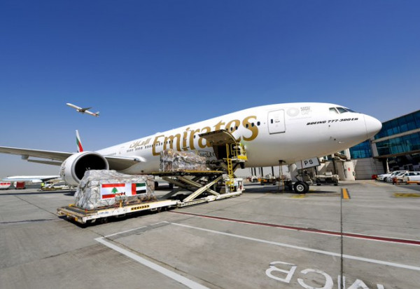 الإمارات للشحن الجوي تواصل نقل إمدادات الإغاثة إلى بيروت