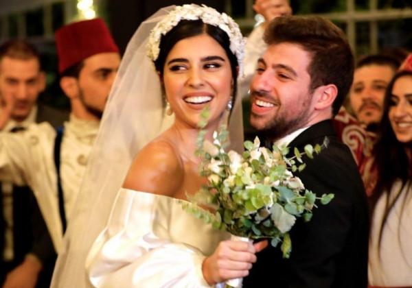 شاهد: زينة مكي ونبيل خوري يحتفلان بزفافهما