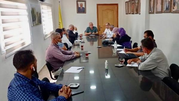 حركة فتح إقليم سلفيت تجتمع بالمكتب الحركي وإتحاد المعلمين