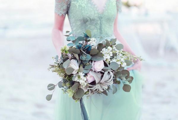 صور: ثيمات زفاف ناعمة باللون الأخضر النعناعي