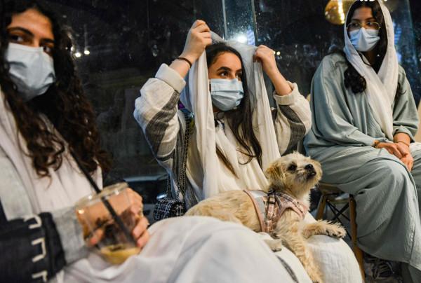 صور: السعودية.. افتتاح أول مقهى لعشاق الكلاب