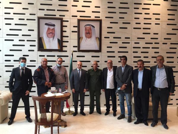 وفد كبير من رجال الأعمال الفلسطينيين في رومانيا يقدم التعازي بوفاة أمير الكويت