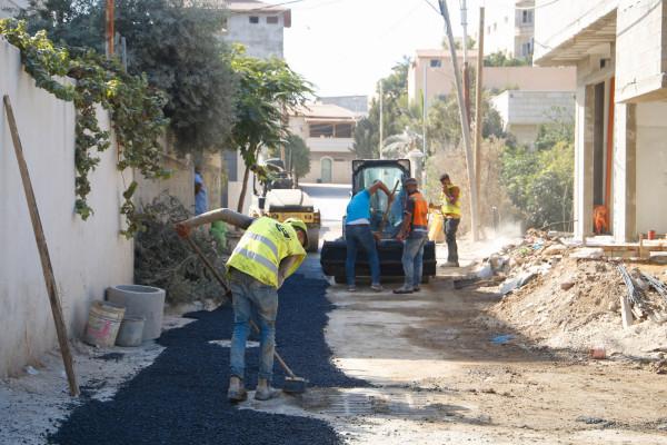 بلدية قلقيلية تختتم مشروع تأهيل شبكة الصرف الصحي في مدينة قلقيلية