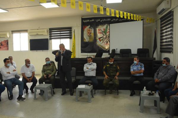 حركة فتح إقليم قلقيلية تستقبل اللجنة العليا للعلاقات العامة في المؤسسة الأمنية