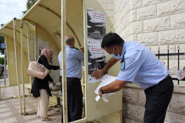 قلقيلية الاهلي ينفذ مبادرة توعوية بالشراكة مع مديرية شرطة قلقيلية