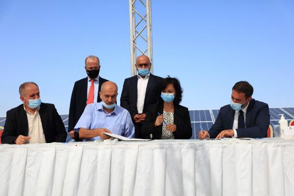 """بقدرة إنتاجية 5 ميجاواط.. صندوق الاستثمار يفتتح محطة """"نور جنين"""" للطاقة الشمسية"""