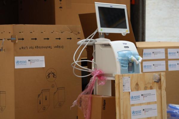 وزارة الصحة تتسلم 50 جهاز تنفس اصطناعي من الممثلية الألمانية