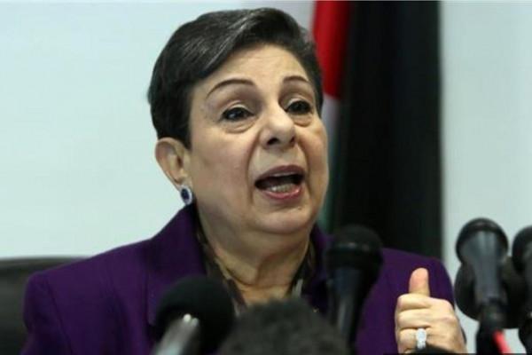 عشراوي: إدارة ترامب تستبق الانتخابات بإضفاء الشرعية على ضم إسرائيل للأراضي الفلسطينية المحتلة