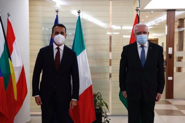 المالكي يدعو ايطاليا لدعم المؤتمر الدولي للسلام الذي دعا له الرئيس عباس