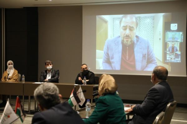 المؤتمر الشعبي لفلسطينيي الخارج يعقد ندوة حول أولويات القضية الفلسطينية بالمرحلة الراهنة