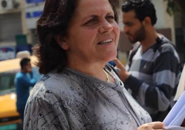 ماجدة المصري تدين اعتقال الاحتلال للناشطة ختام السعافين