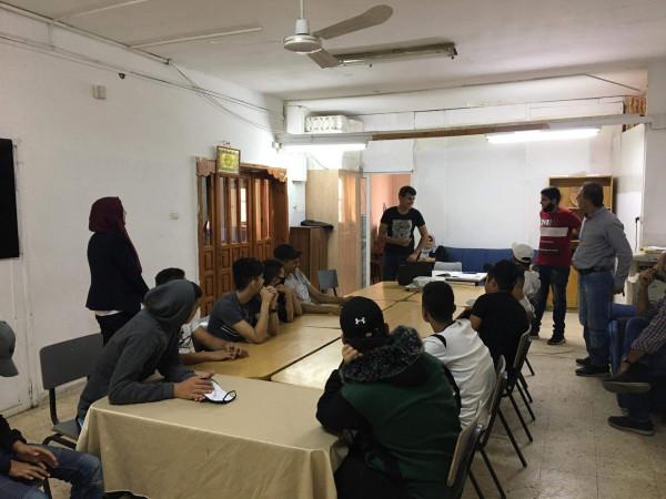 مركز تأهيل الشبيبة ومؤسسة انجاز ينظمان دورة القيادات المجتمعية في نابلس