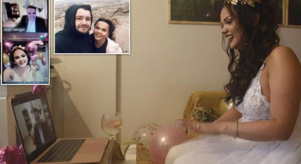 زفاف إلكتروني بسبب (كورونا)
