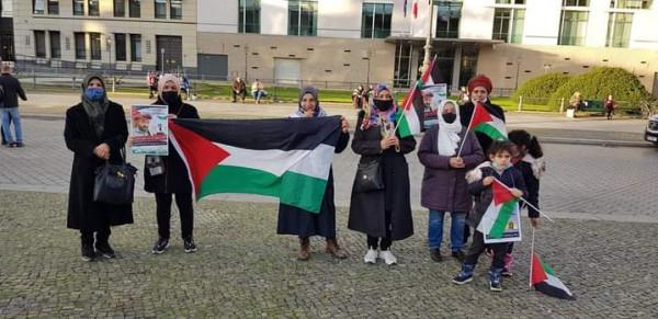الجالية الفلسطينية تنظم وقفة إحتجاجية مع الأسير ماهر الاخرس في برلين