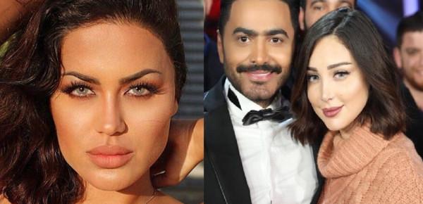 شاهد: عشيقة تامر حسني تحتفل بانفصاله عن زوجته