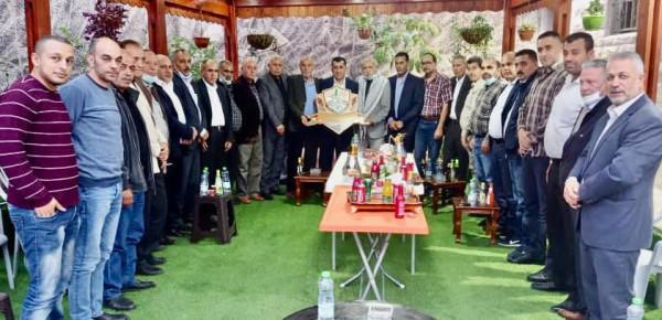 حركة فتح إقليم سلفيت تكرم العقيد جهاد زبادي