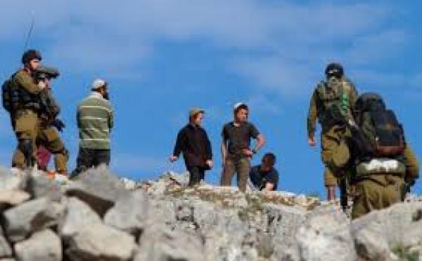 مواطنون ونشطاء يتصدون لهجوم مستوطنين على قرية التوانة