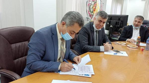 """صور: اتفاقية لترخيص مشروع إنتاج الطاقة الكهربائية من """"الشمسية"""" لمدينة غزة الصناعية"""