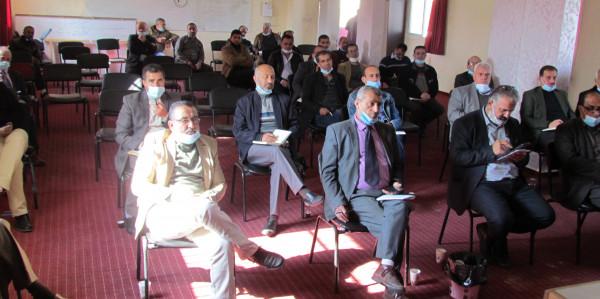 تربية جنوب نابلس تعقد اجتماعاً لمديري ومديرات المدارس