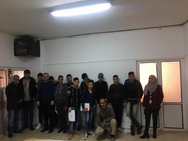 """مركز شبيبة نابلس ومؤسسة انجاز فلسطين يختتمان دورة """"القيادة المجتمعية"""""""