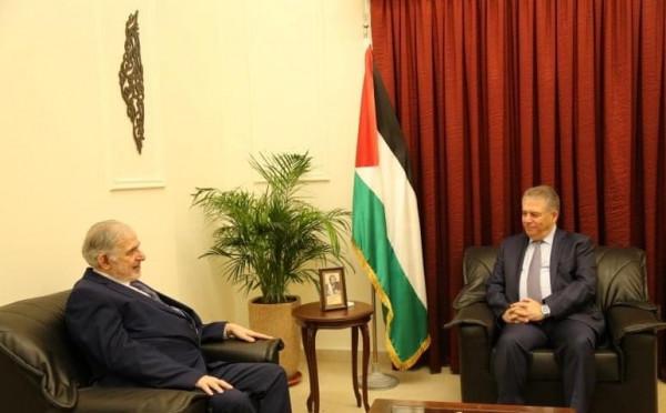 دبور يستقبل سفير جنوب افريقيا في لبنان وسوريا