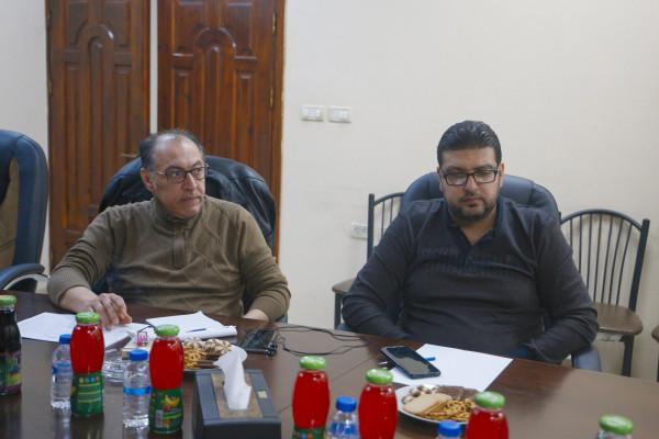 بلدية قلقيلية تعقد اجتماع لتقييم المشاريع ضمن برنامج وحدة التنمية الاقتصادية المحلية