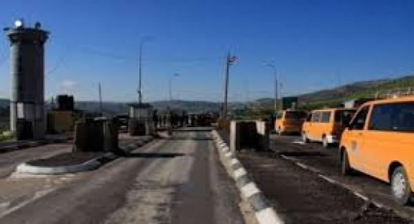 الاحتلال يُغلق حاجز بيت فوريك شرق نابلس