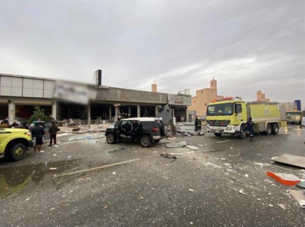 شاهد: مقتل شخص وإصابة ستة آخرين بانفجار في مطعم بالرياض