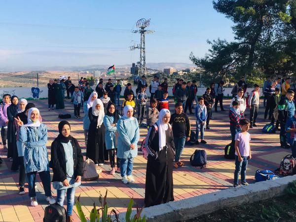 مدرسة فرخه الثانوية تحيي يوم التضامن مع الشعب الفلسطيني