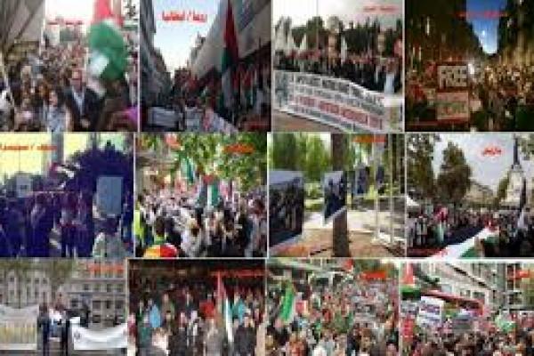الجالية الفلسطينية في بون تنظم وقفة جماهيرية بمناسبة اليوم العالمي للتضامن مع الفلسطينيين