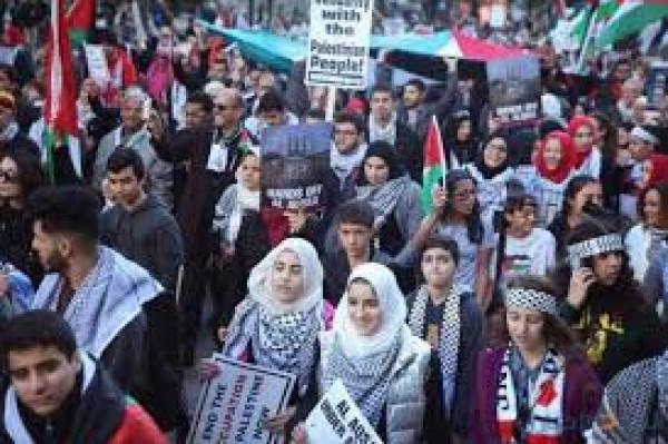 إقليم الباسك يخرج بمظاهرات تضامنا مع دولة فلسطين