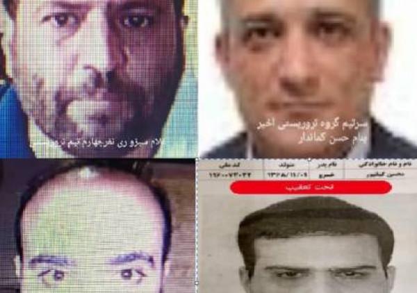 المخابرات الإيرانية تنشر صور منفذي اغتيال رئيس البرنامج النووي