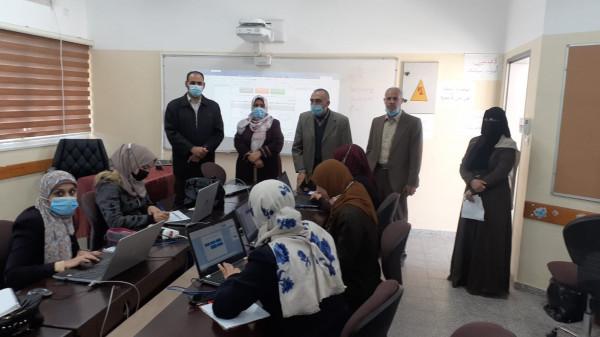 """مديرية شمال غزة تفتتح دورة احتراف برنامجي """"الوورد"""" و""""البوربوينت"""" لأغراض تعليمية"""