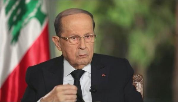 عون: لبنان يريد نجاح مفاوضات ترسيم الحدود البحرية الجنوبية