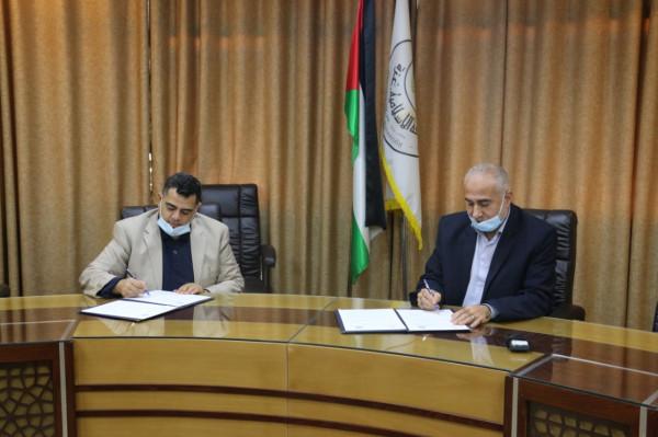 """""""المجلس الأعلى"""" يوقع اتفاقية تعاون مع الجامعة الإسلامية بالمجال الرياضي"""
