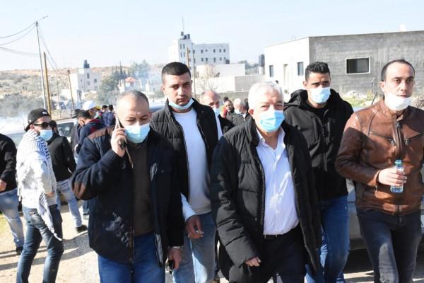 محافظ سلفيت:نؤكد على حق شعبنا برفض الاحتلال وقمع المسيرة السلمية لن يثنينا عن الصمود