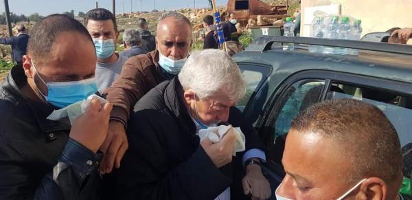 شاهد: بينهم العالول وعساف.. إصابة 32 مواطنا بقمع الاحتلال مسيرة منددة بالاستيطان بسلفيت